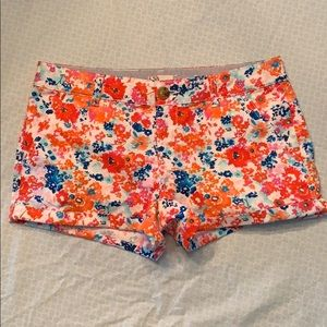 Colorful, floral patterned juniors shorts